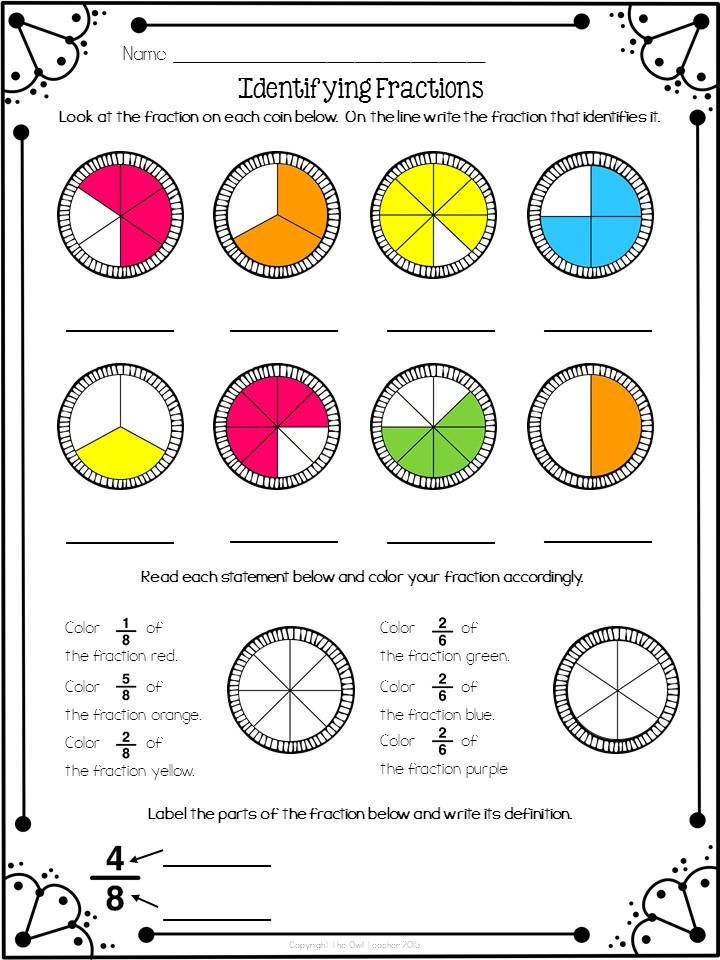classroom freebies too identifying fractions freebie. Black Bedroom Furniture Sets. Home Design Ideas