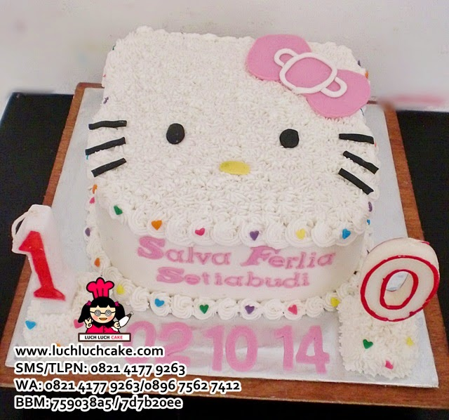 Kue Tart Kepala Hello Kitty Pink Cute
