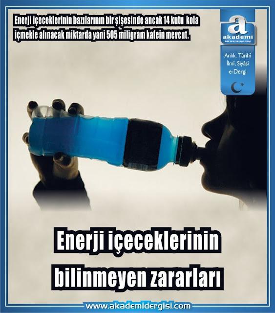 Enerji içeceklerinin bilinmeyen zararları