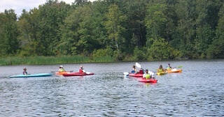 Rensselaer Lake, also known as Six Mile Waterworks kayaks