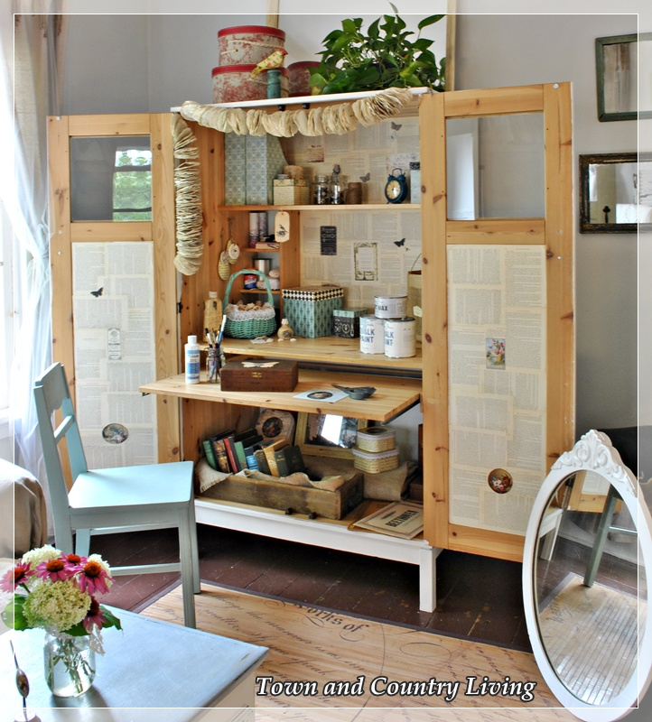 Creating a Crafting Cabinet - Town & Country Living