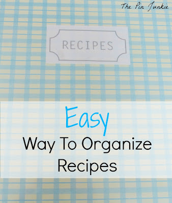 easy way to organize recipes