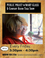 MARY GLASS goes to TALK RADIO 104.1 FM
