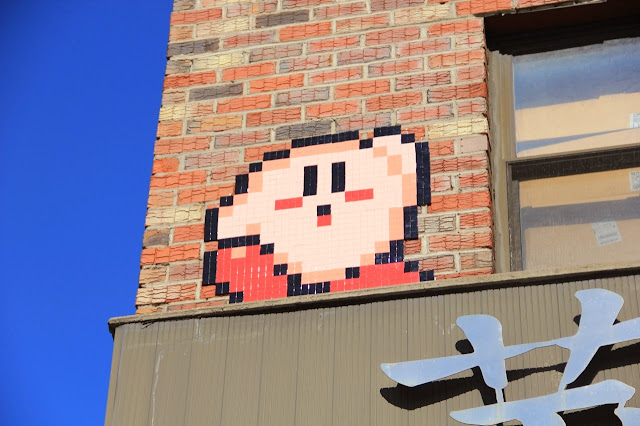 Mosaic Street Art By Space Invader On The Streets Of New York City, USA. 2