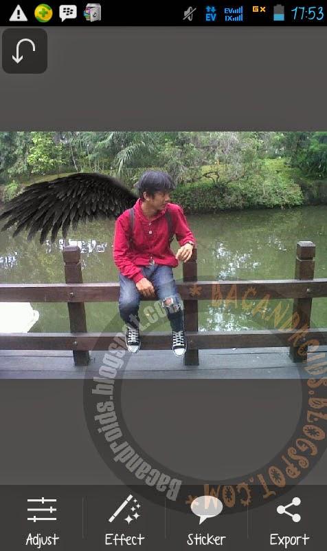 Foto Menambahkan Sayap di Android