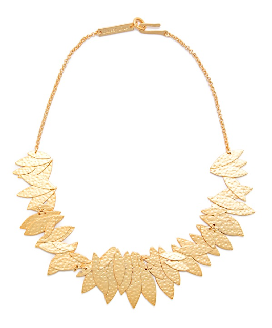 Rebajas SS 2015 complementos collar hojas doradas