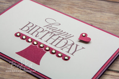 Make in a Moment Birthday Card for a Teenage Girl featuring Stampin' Up! UK supplies - check it out here