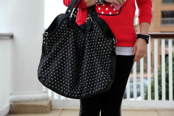 Studded Black Bag from TJ Maxx