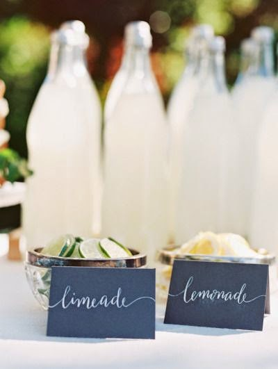 12 Party Ways To Use Calligraphy; drink cards