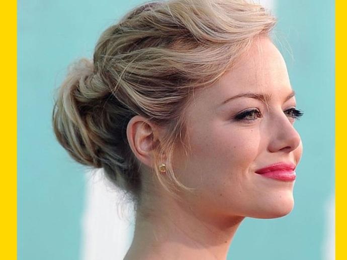 Peinado De Fiesta Recogido Emma Stone Peluqueria Rys Aviles - Peinados-de-fiesta-recogidos-fotos