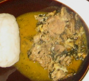 how to cook pounded yam flour
