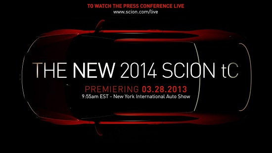 2014 Scion tC teaser image