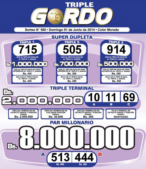 Triple Gordo Sorteo 560