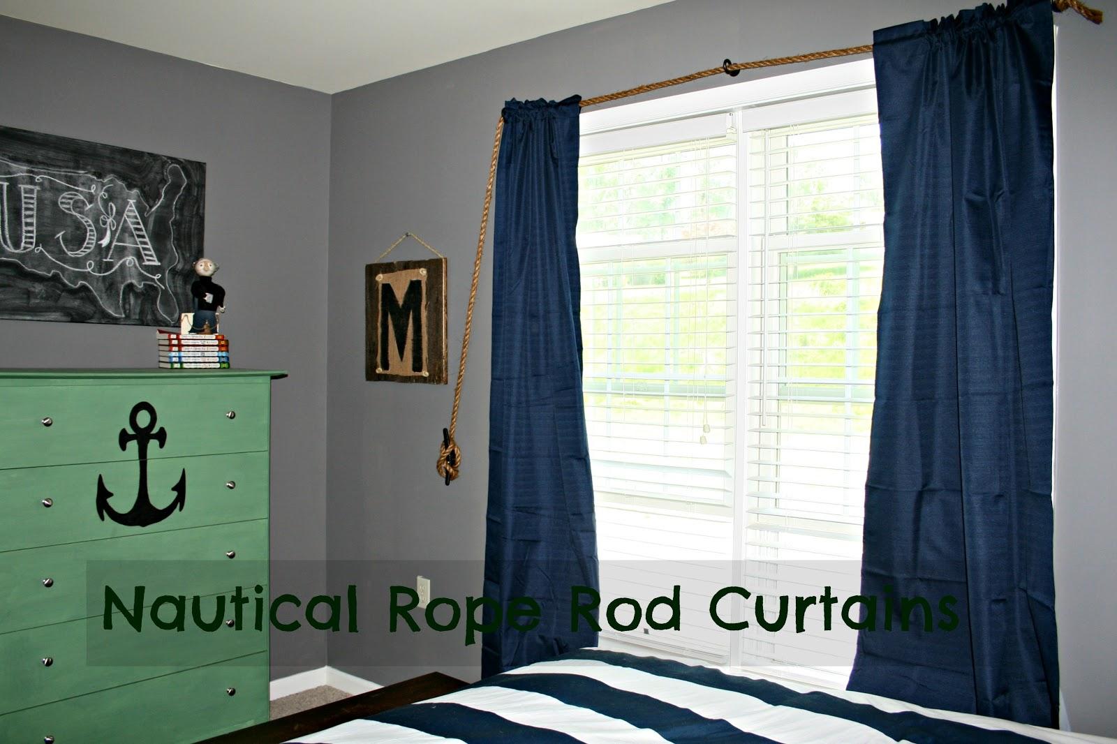 Nautical rope curtains - Curtain Rods Nautical Curtain Rods Nautical Rope Rod Curtains