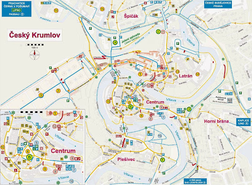 Cesky Krumlov map