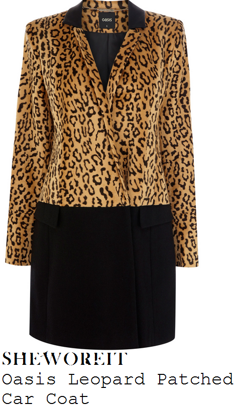 lucy-mecklenburgh-leopard-print-and-black-colour-block-tailored-car-coat