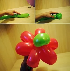 How to make an easy balloon flower bouquet - step 3