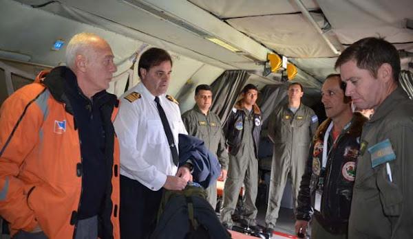 VCTM de la EA6E sobre sector antártico