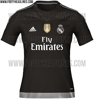 gambar photo Jersey keeper Real madrid home warna hitam musim 2015/2016