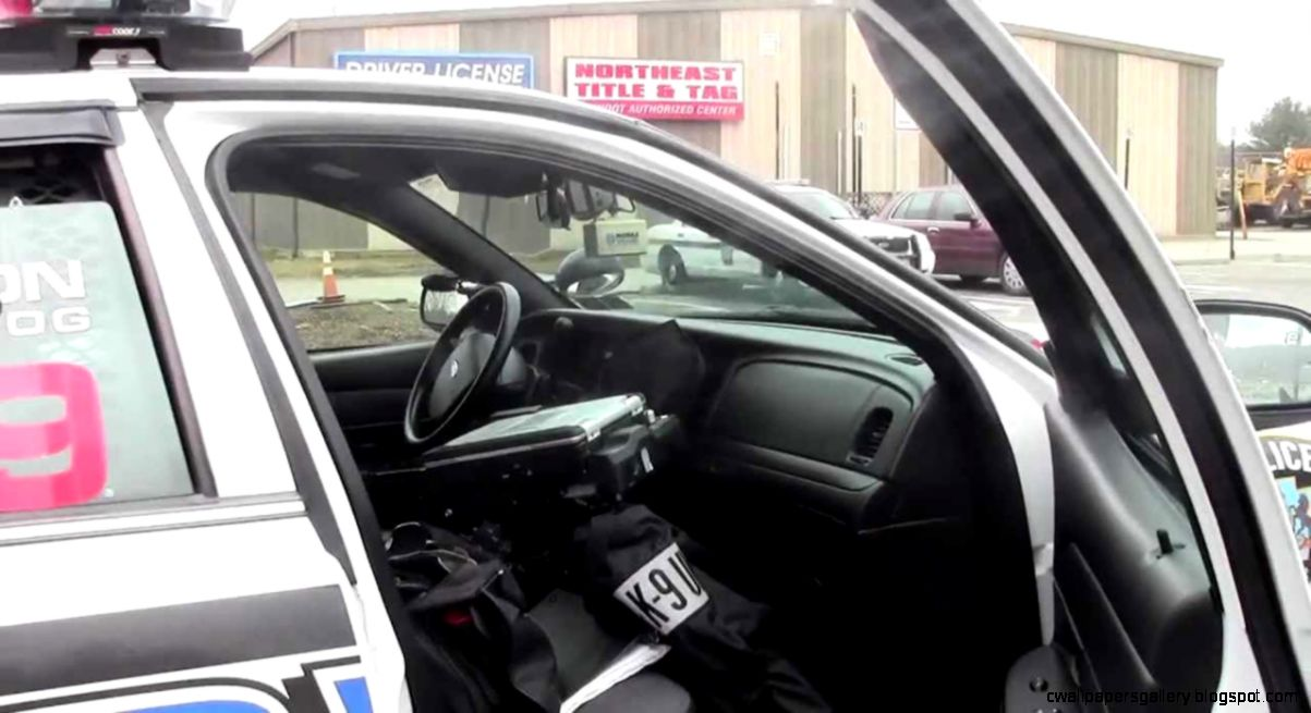 inside the police car   YouTube