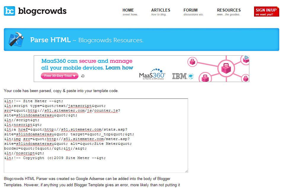 Parse HTML - Memasang Google Adsense di Body Blogspot 3
