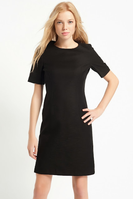 siyah düz kesim elbise, kısa elbise