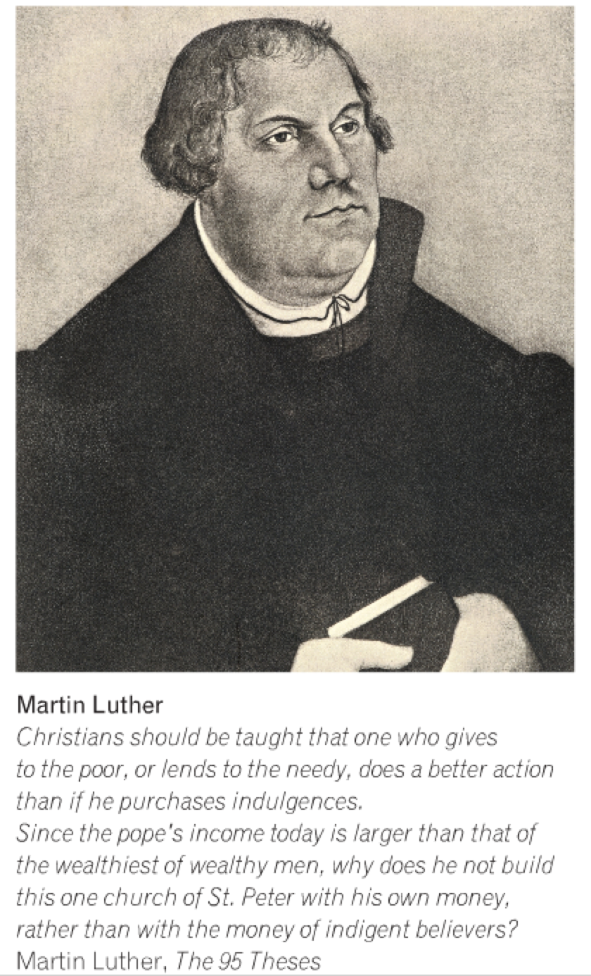 mr bell s world history eso session renaissance art martin luther taught others that a person only needed to have faith in jesus christ in order to be saved he also translated the bible from latin to german