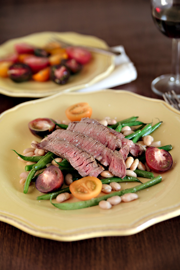 Steak & Warm Bean Salad | Bay Area Photographer Hannah Lundberg