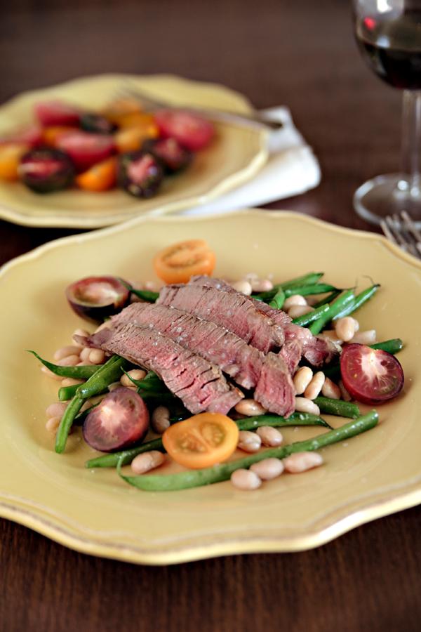 Steak & Warm Bean Salad | Bay Area Photographer Hannah Lundberg