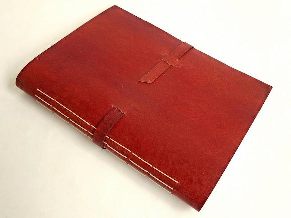 caderno-couro-canson-vermelho