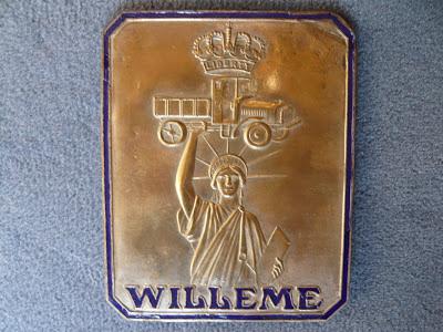 WILLEME truck lorry radiator emblem badge