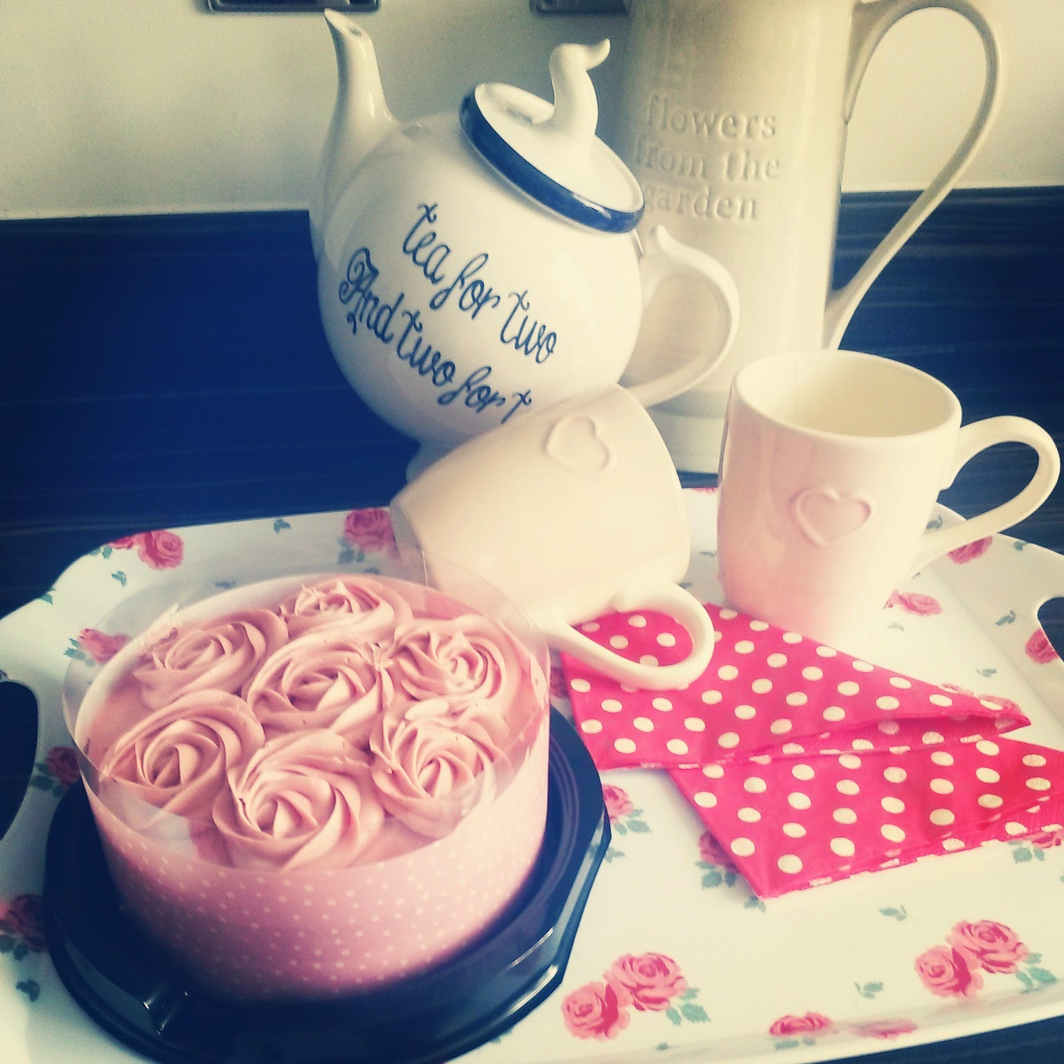 Afternoon Tea vintage cake and teapot