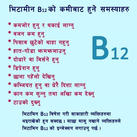 B12 Deficiency Symptoms Vitamin b12 deficiency may B12 Deficiency