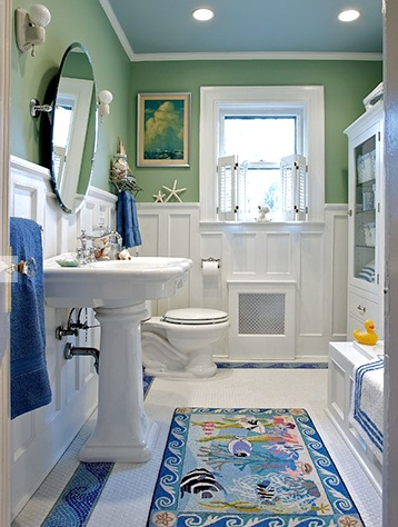 15 beach bathroom ideas completely coastal for Small coastal bathroom ideas