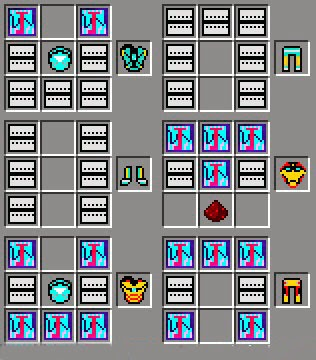 Iron Man Unlimited Mod craftings armaduras