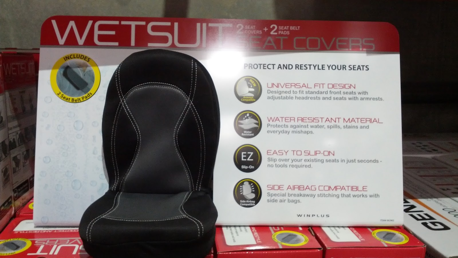 Winplus Wetsuit Seat Covers Protects Your Cars Seats