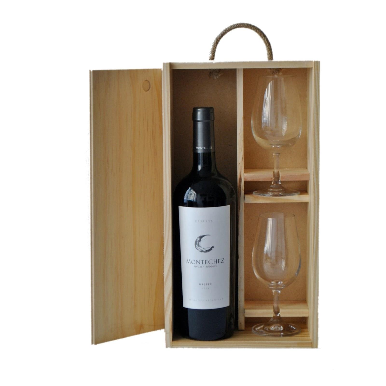Cajas madera para vino comprar estuche de madera con - Cajas de vino de madera decoradas ...