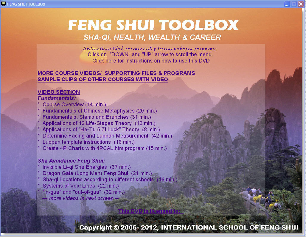 International school of feng shui interactive video for Feng shui for health