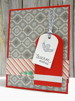 Warm Wishes Snow Day card by Jennifer Ingle for Newton's Nook Designs