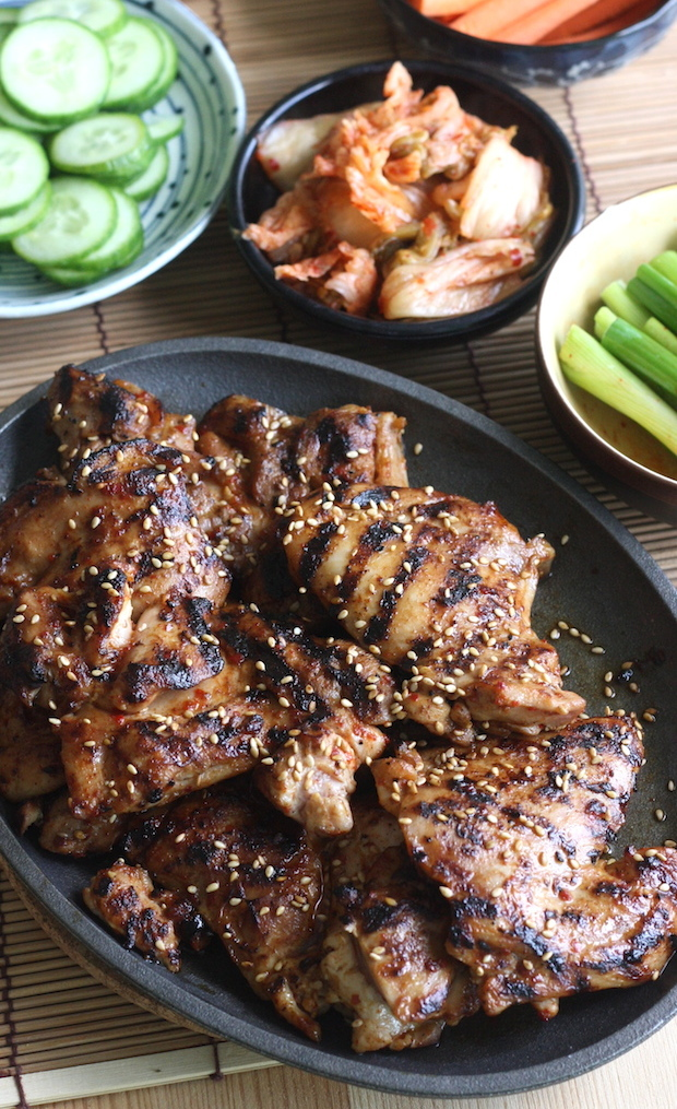 Korean BBQ Chicken Lettuce Wraps recipe by SeasonWithSpice.com