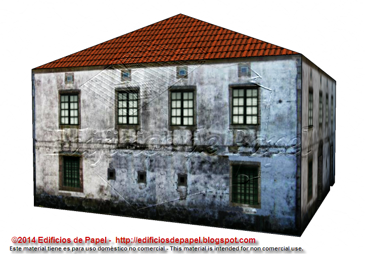 Back facade of the paper model
