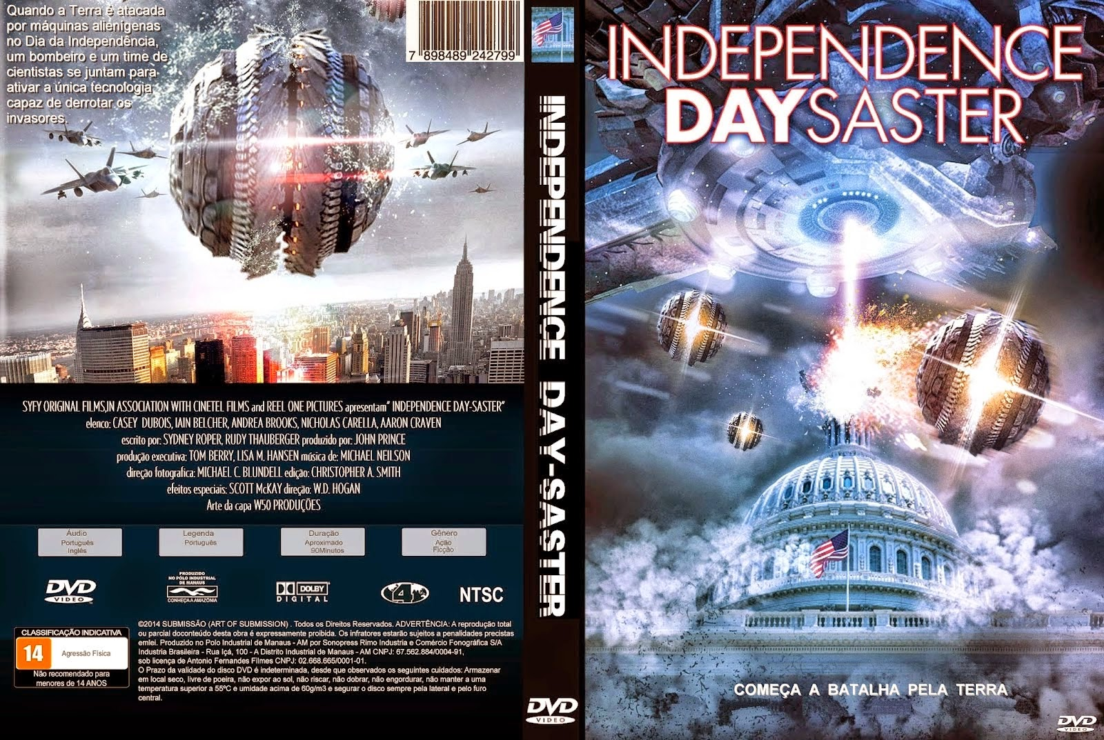 Independence Day Saster - DVD Capa