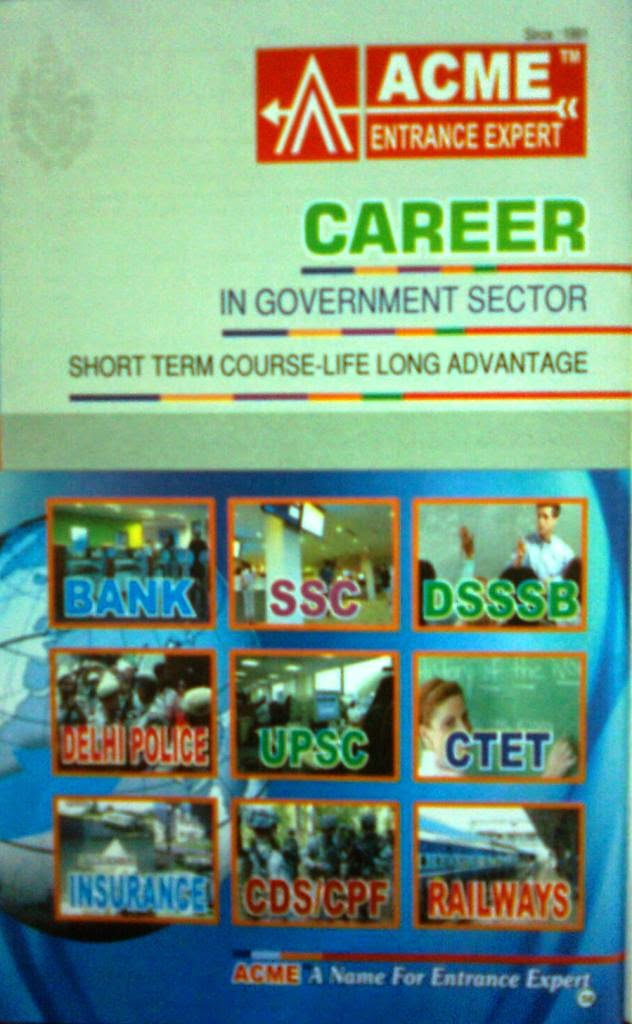 Various Avenues For Which Coaching Available ACME Entrance Expert - Promotional Campaign By Kind Attention.