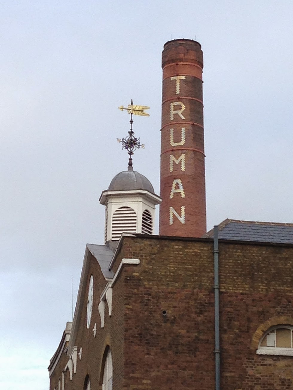 Ghost sign, Truman Brewery, Shoreditch, London