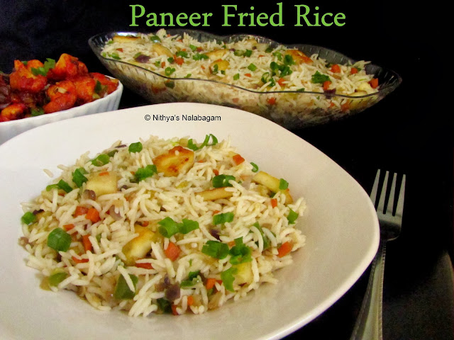 Easy Paneer Fried Rice