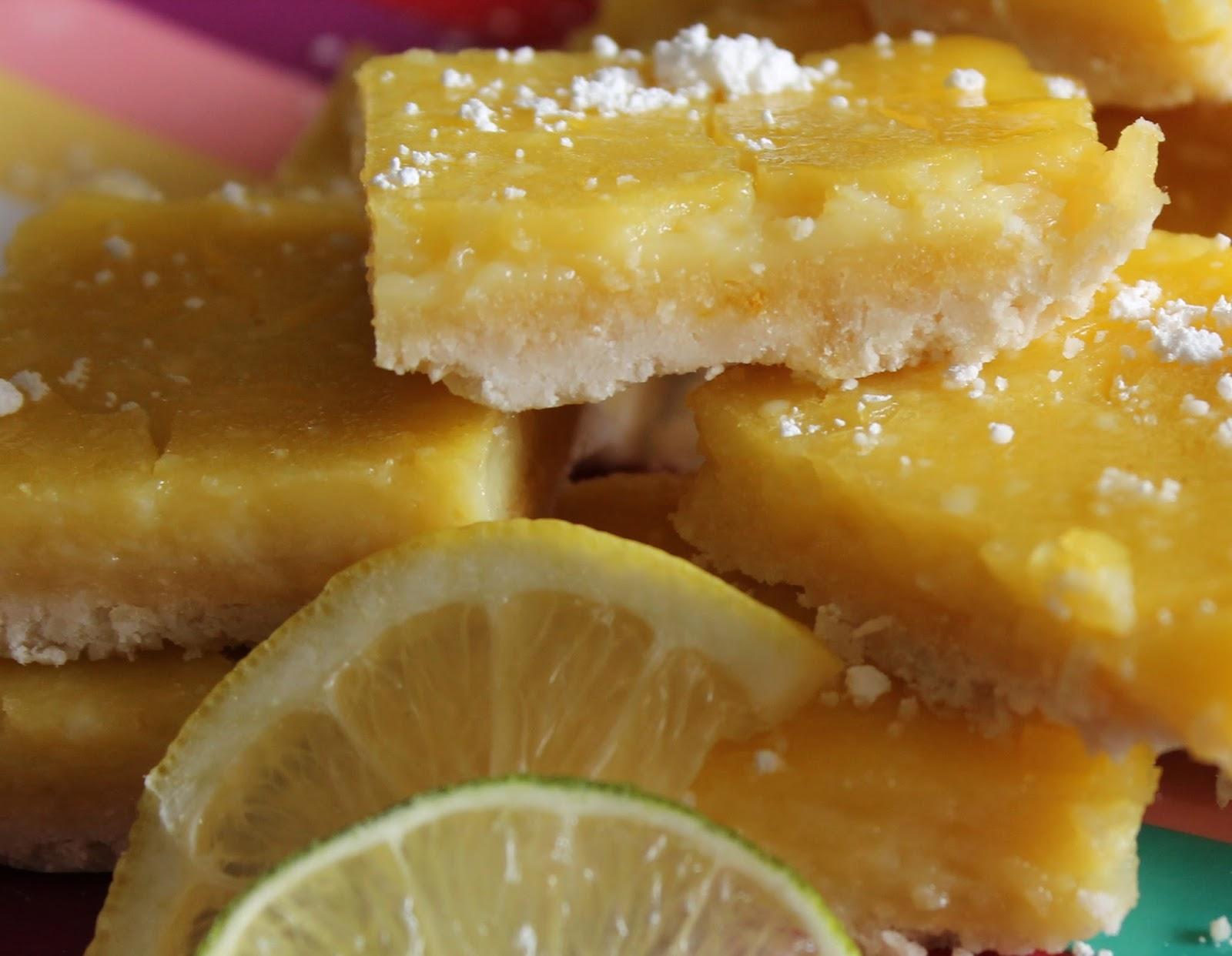sugar free lemon bars