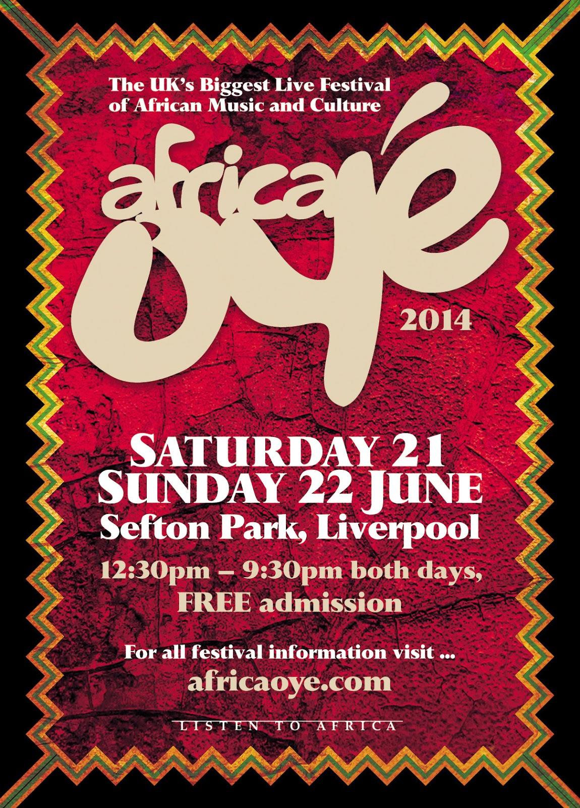 Africa Oye Line Up 2014 Festival