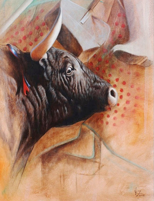 Imágenes de Pinturas: Cuadros de Toros Pintados al Óleo