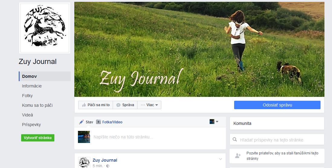 Zuy Journal už aj na Facebooku!