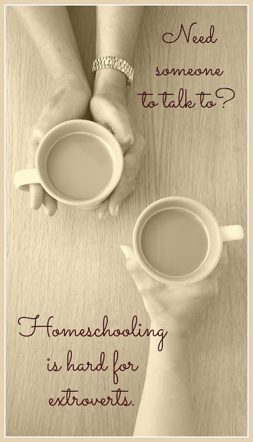 Homeschooling is Hard for Extroverts (Featured post on In Review - A Collection of Coffee Breaks from 2015 on Homeschool Coffee Break @ kympossibleblog.blogspot.com)